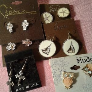 Jewelry - New Lot Of 6 Assorted Brands of Fashion Earrings
